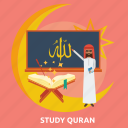 eid, islam, quran, ramadan, religion, study, teacher icon