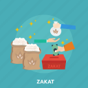 charity, eid, food, islam, ramadan, religion, zakat icon