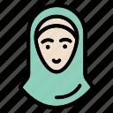 hijab, avatar, female, girl, islam, people, woman