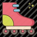 roller, skates, skating icon