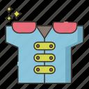 fashion, jacket, pads, shoulder icon