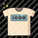 fashion, shirts, slogan icon