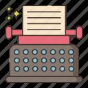 machine, typewriter, typing
