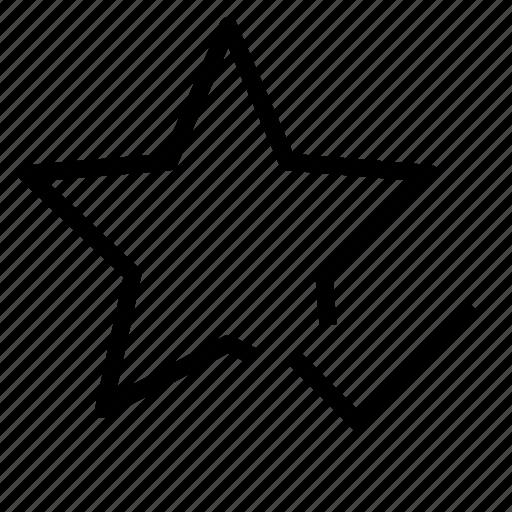 check, favorite, star icon