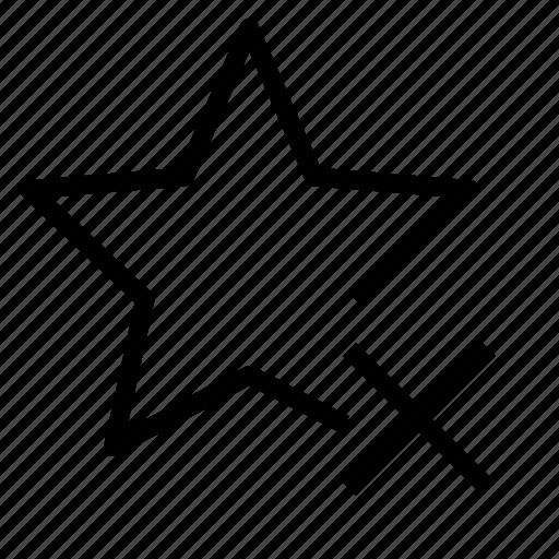 delete, favorite, star icon