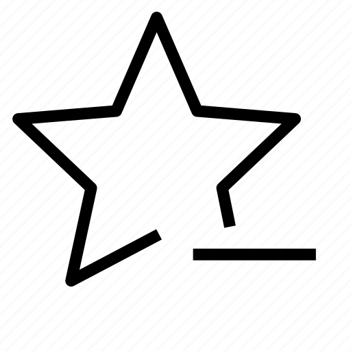 favorite, remove, star icon