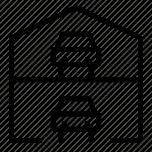 car, garage, multilevel icon