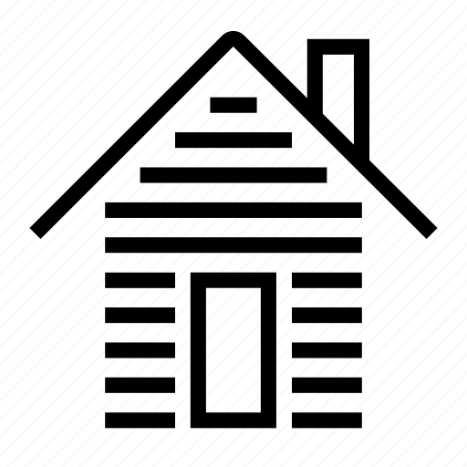 house, log icon