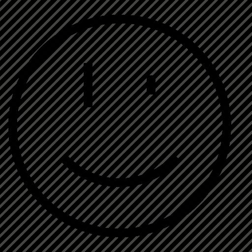 smile, wink icon