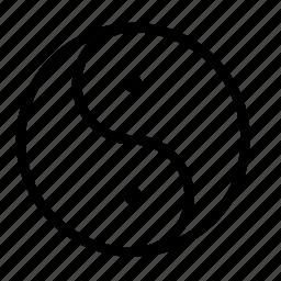 philosophy, yang, yin, yin yang icon