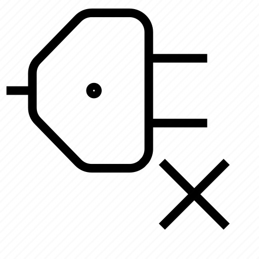 connection, delete icon