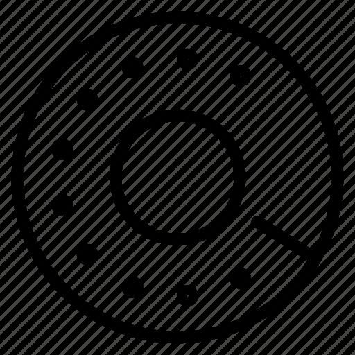disc, retro, telephone icon
