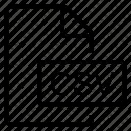 csv, mime type icon