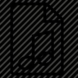 audio, document, mime type icon