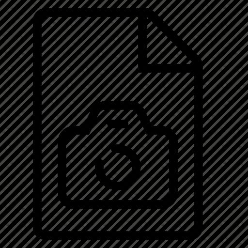 document, mime type, photo icon