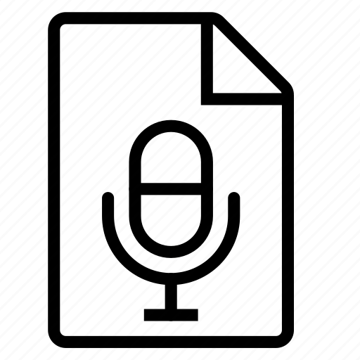 document, mime type, voice icon