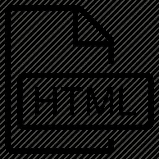 html, mime type icon