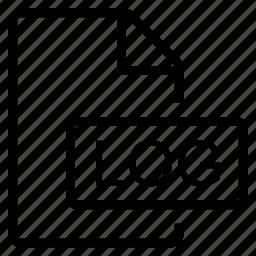 log, mime type icon