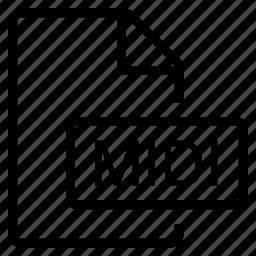 midi, mime type icon