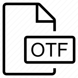 mime type, otf icon