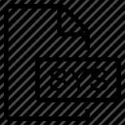 mime type, sys icon