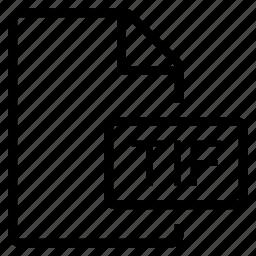 mime type, tif icon