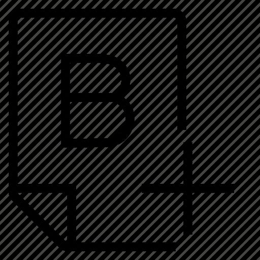 mark, mark b+ icon
