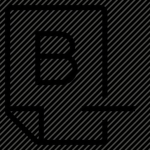 mark, mark b- icon