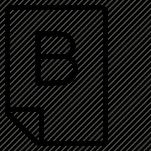 mark, mark b icon