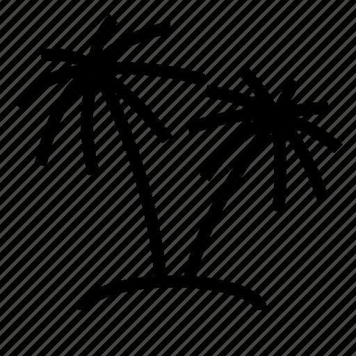 holliday, island, palms icon