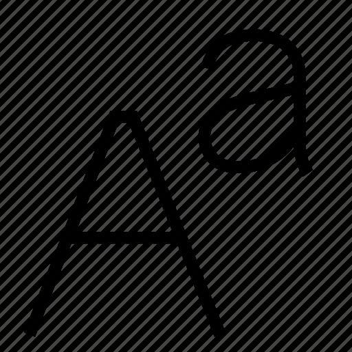font, language, sans icon
