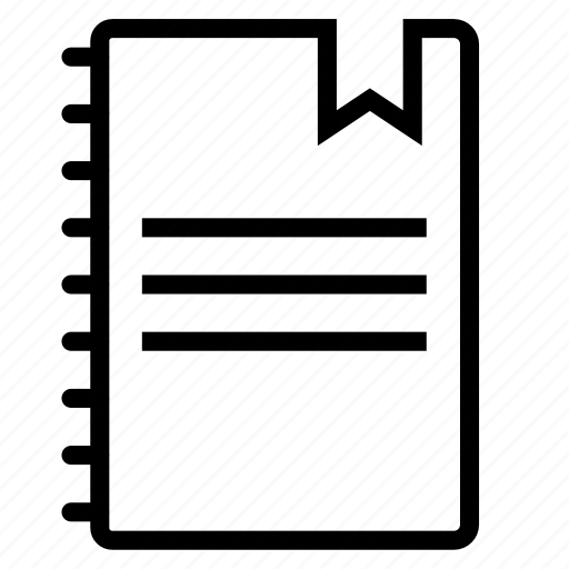 bookmark, copybook icon