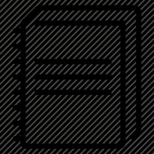 book, copybook icon