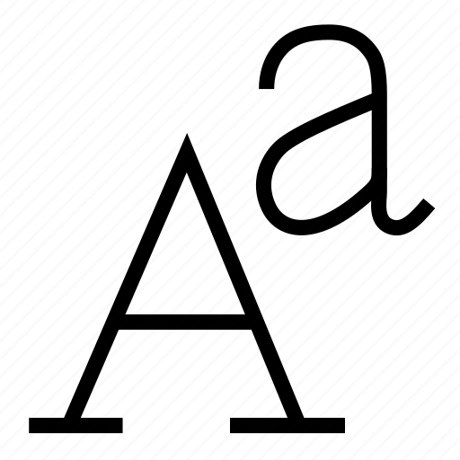 alphabet, font, serif icon
