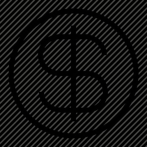 coin, dollar icon