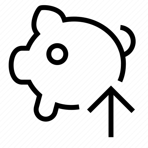 income, pig, piggy bank icon