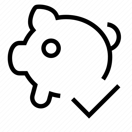 pig, piggy-bank, purse icon