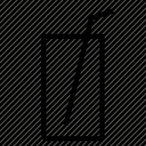 glass, soda, water icon