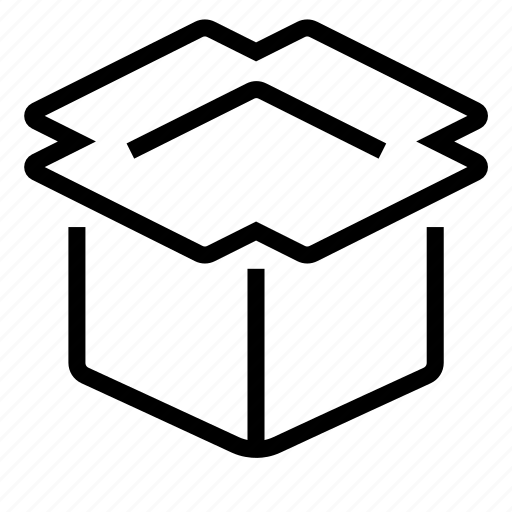 box, delivery, opened, shipping icon