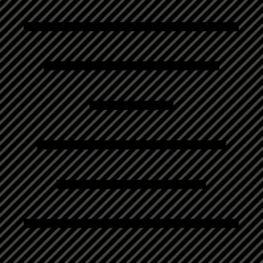 center, text icon