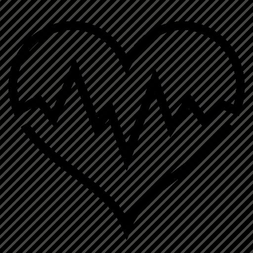 cardiogram, heart icon