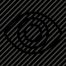 eye, visible icon