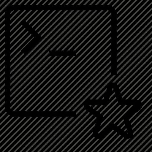 application, favorite, terminal icon