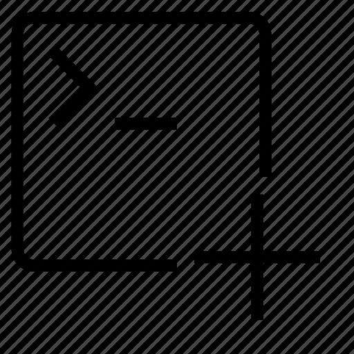 application, new, terminal icon