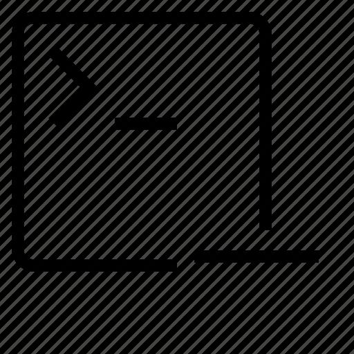 application, remove, terminal icon