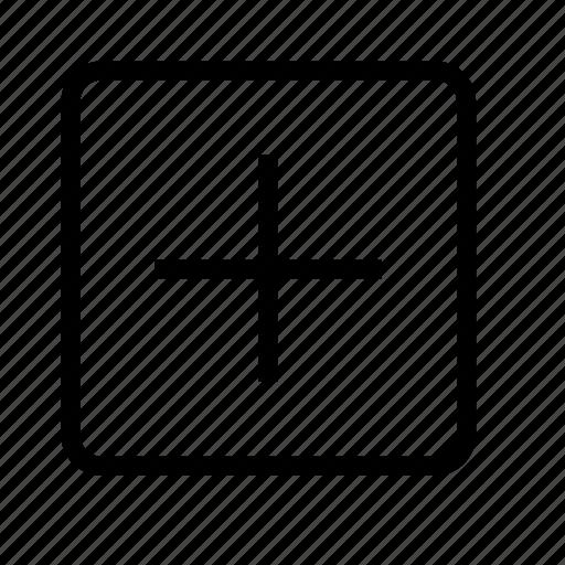 folder, open, plus icon