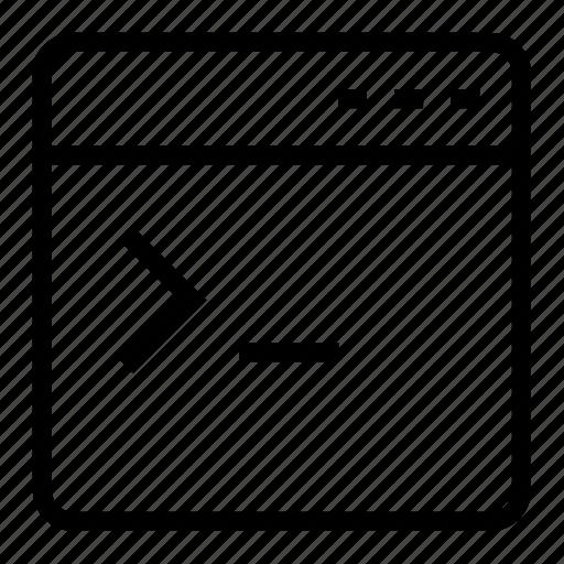 application, terminal icon