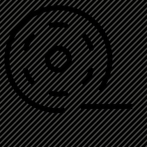 bobbin, movie, remove, video icon