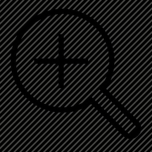 in, lense, zoom icon