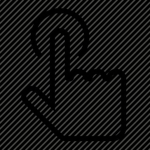alert, finger, hand icon